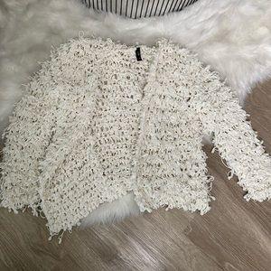 Fuzzy White Cardigan / Jacket
